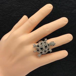 🌼3/$30🌼 Rhinestone Turtle Cocktail Stretch Ring